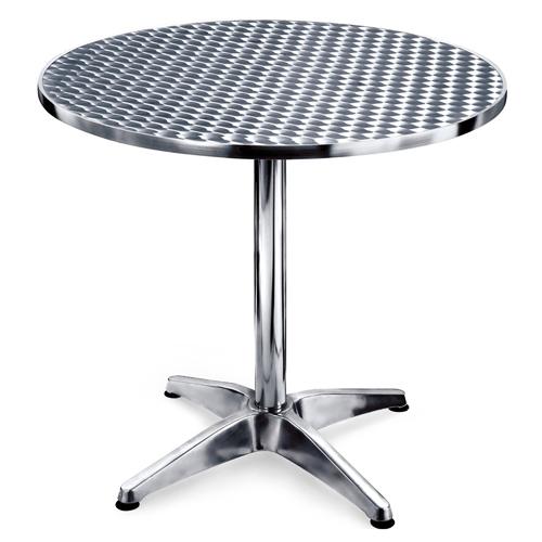 Mesa redonda de aluminio metalicos monterrey for Mesas de centro metalicas